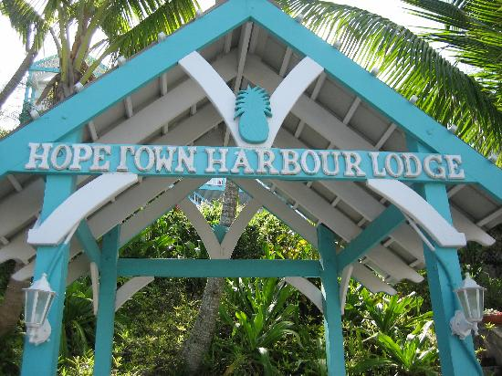 Hope Town Harbour Lodge Entrance