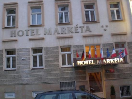 Hotel Marketa: front view of the hotel