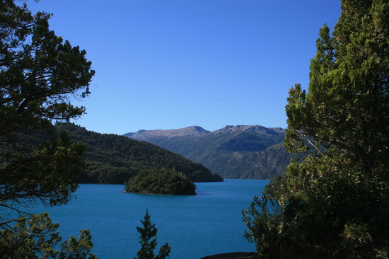 Nahuel Huapi National Park: glacial lakes under a brilliant blue sky