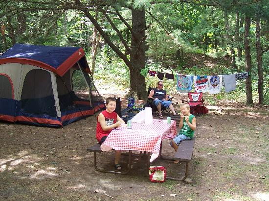 Stand Rock Campground : our campsite