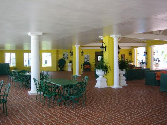 Half Moon: 1/3 of the Oleander Terrace lobby. We'll have the whole Terrace to ourselves for the wedding!