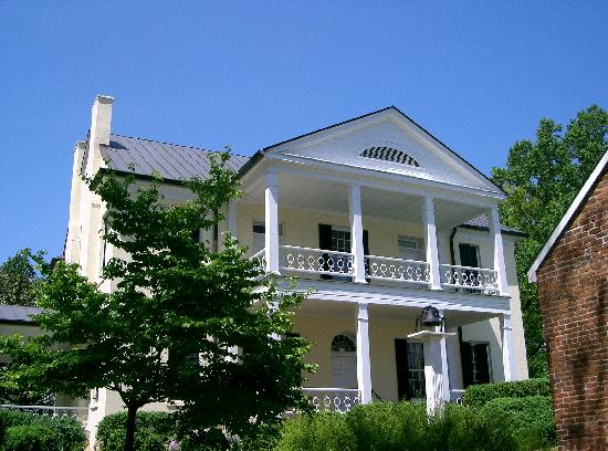Rose Hill Plantation State Historic Site: Back porch of Rose Hill