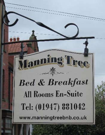 Manning Tree Bed & Breakfast: Their sign