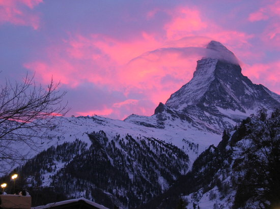 Zermatt, Suiza: view from the Beau Site
