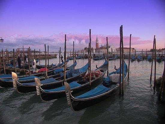 Venise, Italie : Atardecer en Venecia