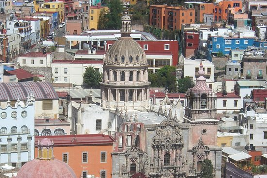 Гуанахуато, Мексика: View of Guanajuato, Mexico from the Funicular