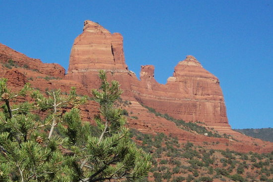 Sedona, AZ: Mitten Ridge - a beautiful red rock formation