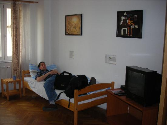 Prague Lion: Bed and TV