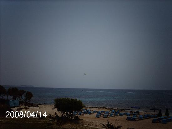Asterias Beach Hotel: View from the kids pool !