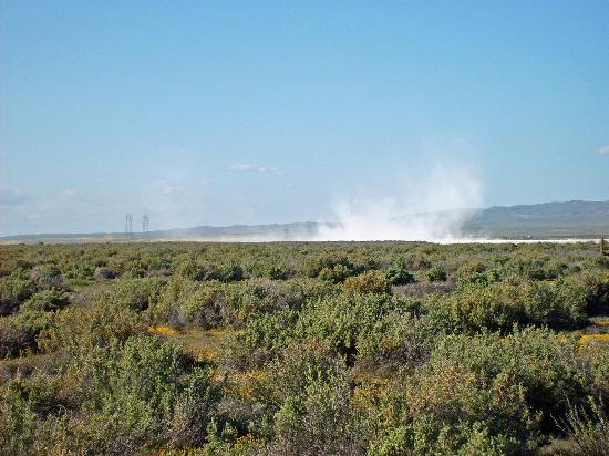 Soda Lake: Soda blowing off the Lake