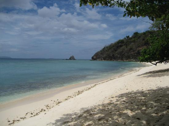 Club Paradise Palawan: The main beach at Club Paradise.