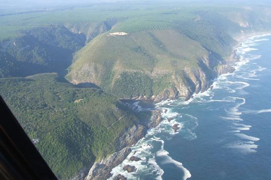 Tsitsikamma Lodge: A view along the coast from the Helicopter.