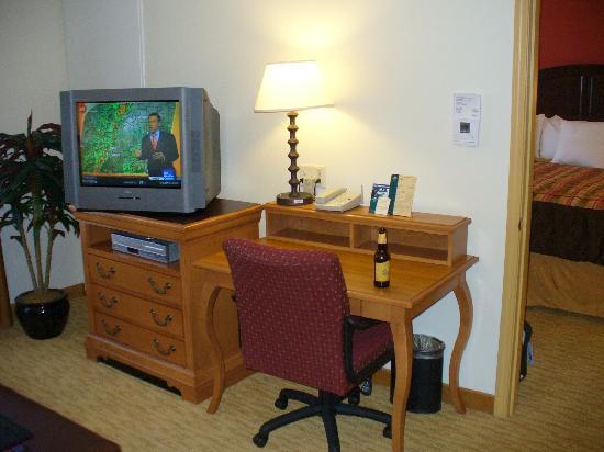 desk in living room area picture of homewood suites by hilton rh tripadvisor com