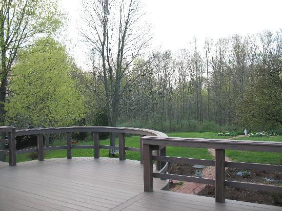 Potterswheel Bed and Breakfast : View from dining room door, overlooking backyard