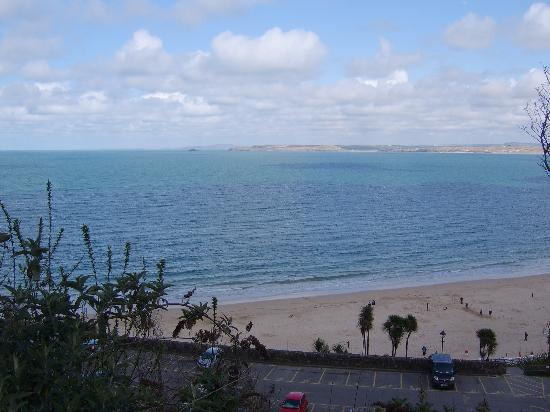 Bay St. Ives Bay Hotel: View of bay from hotel lounge
