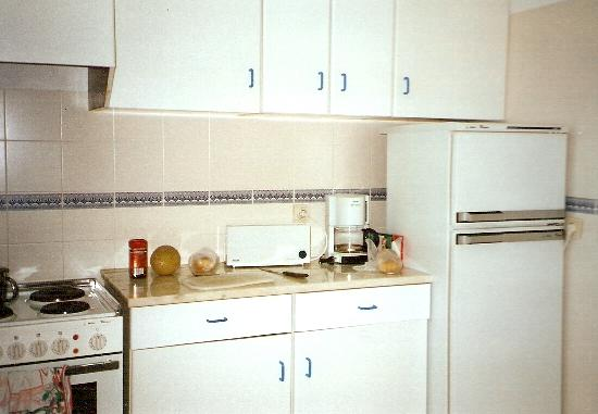Jardins da Falesia: Fridge with freezer and cooker with oven