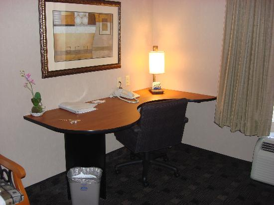 Hampton Inn and Suites Indianapolis - Fishers: Office area in room