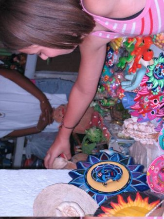 Zocalo: daughter shopping for crafts
