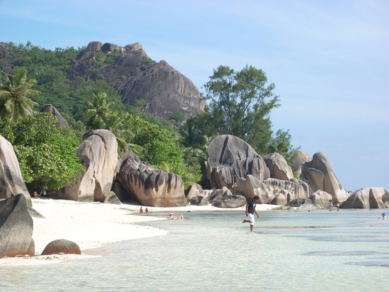 Wyspa La Digue, Seszele: La Digue (Source D'Argent)