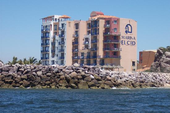 El Cid Marina Beach Hotel From Ocean