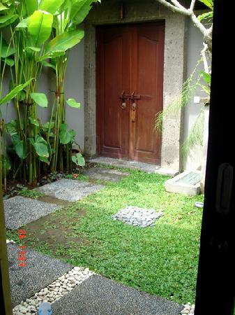 Entrance to villa, our terrace