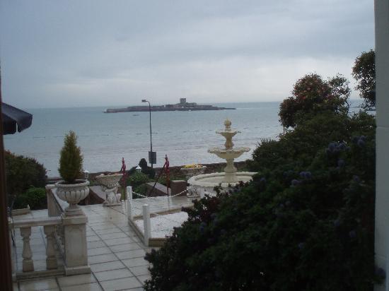 La Haule Manor: View from breakfast room