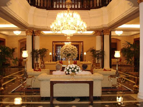 The Oberoi Grand: The entrance lobby