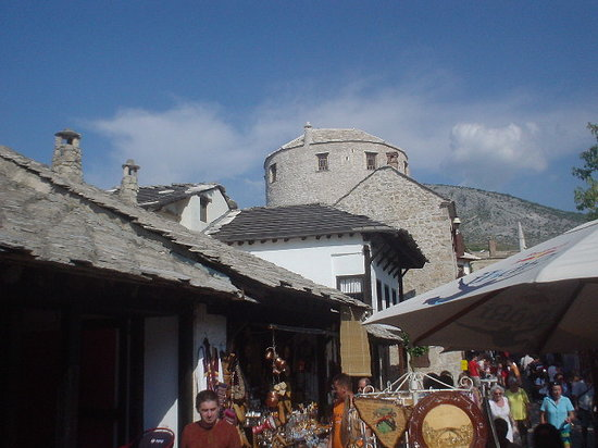 Mostar, Bosnia and Herzegovina: Market, Old Town