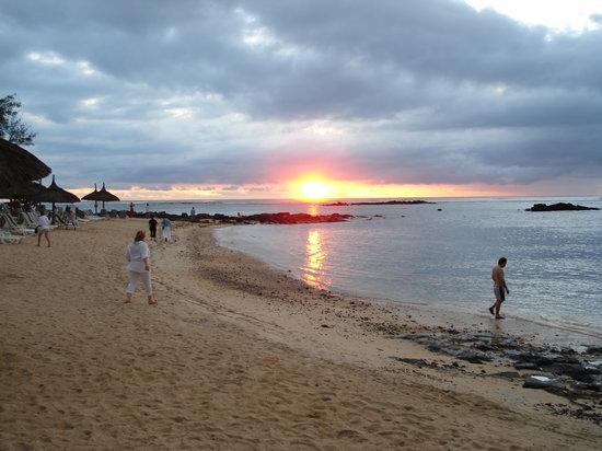 Pointe aux Canonniers: il tramonto sul mare