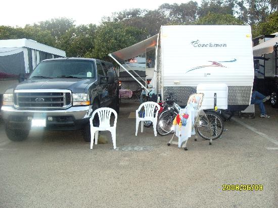 Carpinteria State Beach Campground : campsite