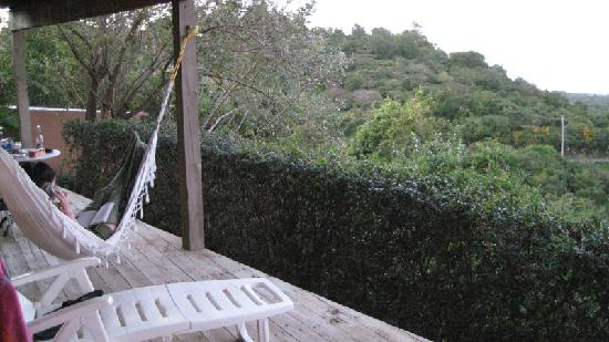 Vieques Villa Gallega A-16-N: A relaxing hammock on the front porch.