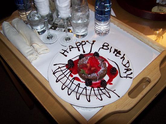 Spa Resort Casino: The birthday treat arranged by the staff.