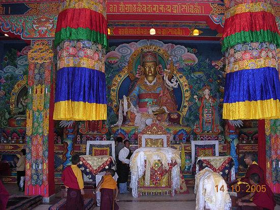 Khawalung Monastery: Main hall of the monastery