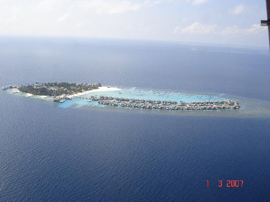 W Maldives: w resort view from seaplane