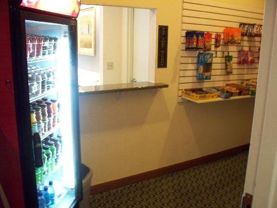 Radisson at The University of Toledo: a small pantry where you can purchase snacks