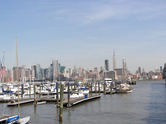 ‪‪Weehawken‬, نيو جيرسي: View from the dock by the hotel‬