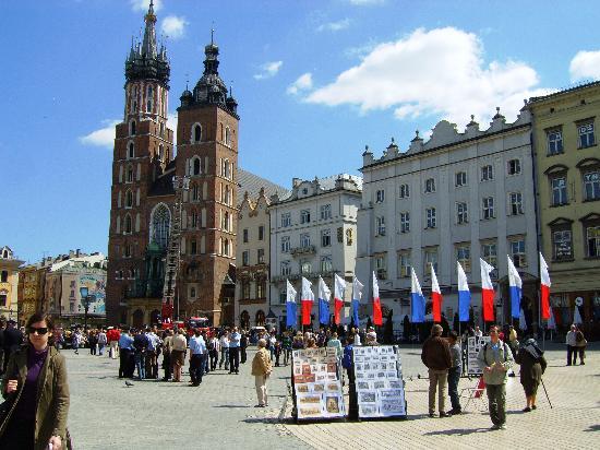 Krakow, Polandia: Rynek Glowny