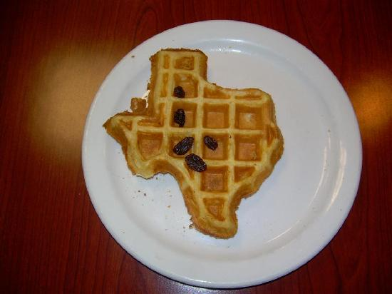 Staybridge Suites San Angelo: The Lone Star state waffle.