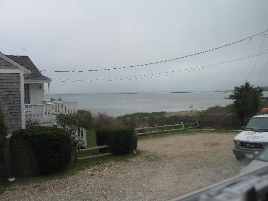 Breakwaters: View of beach from porch