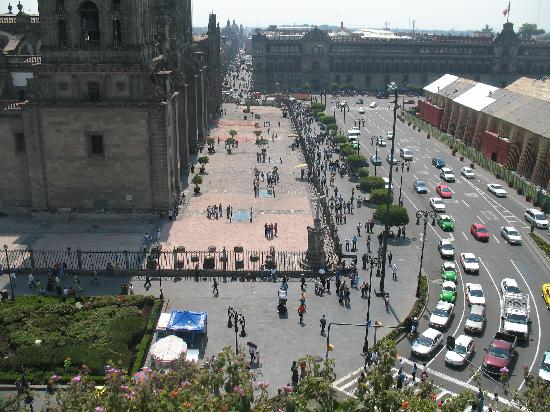 Zócalo Central: Rooftop view