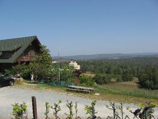 Fitzpatrick Winery and Lodge : The Lodge overlooking the vineyards and the valley