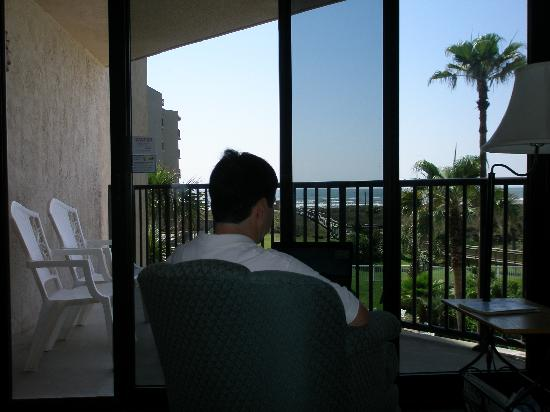 Sandcastle Condominiums & Conference Center: View out of unit #217