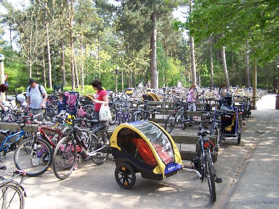Center Parcs Sherwood Forest: the cycle park for the village square