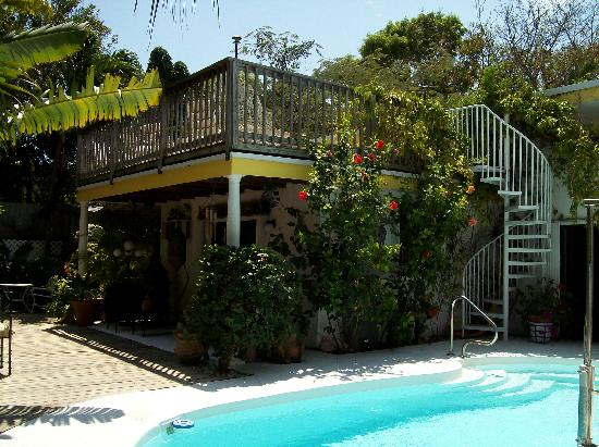 Casa Thorn Bed & Breakfast: Pool and Sundeck area