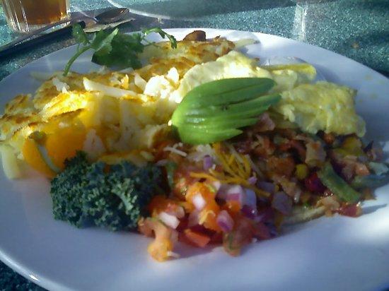 Egg River Cafe : Huevos Rancheros, very tasty!
