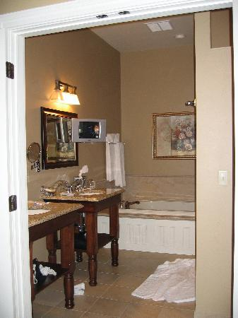 The Delafield Hotel: Fantastic bathroom - and a 3rd TV!