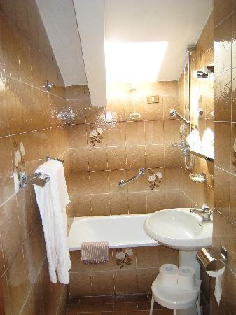 Hotel  Fontana: Single room bathroom