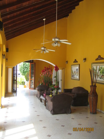 Hotel San Martin Cartagena: Lobby From The Front Desk~May 2008.