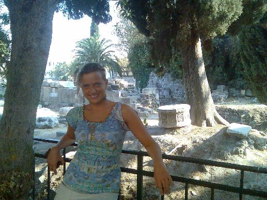 Kos Town, Grekland: the ruins of the old town and I