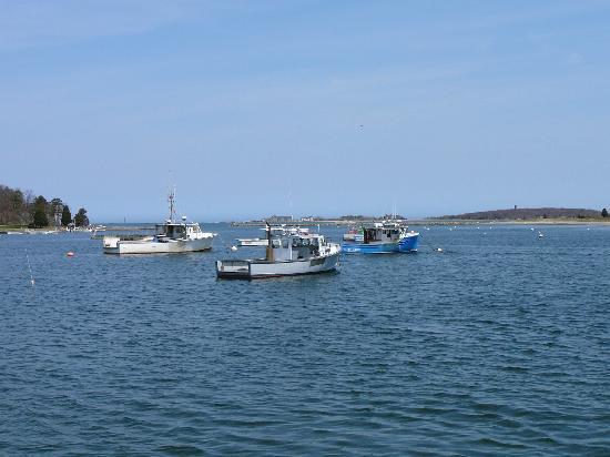 Atlantica Restaurant: View of Cohasset Harbor from Atlantica's Parking Lot